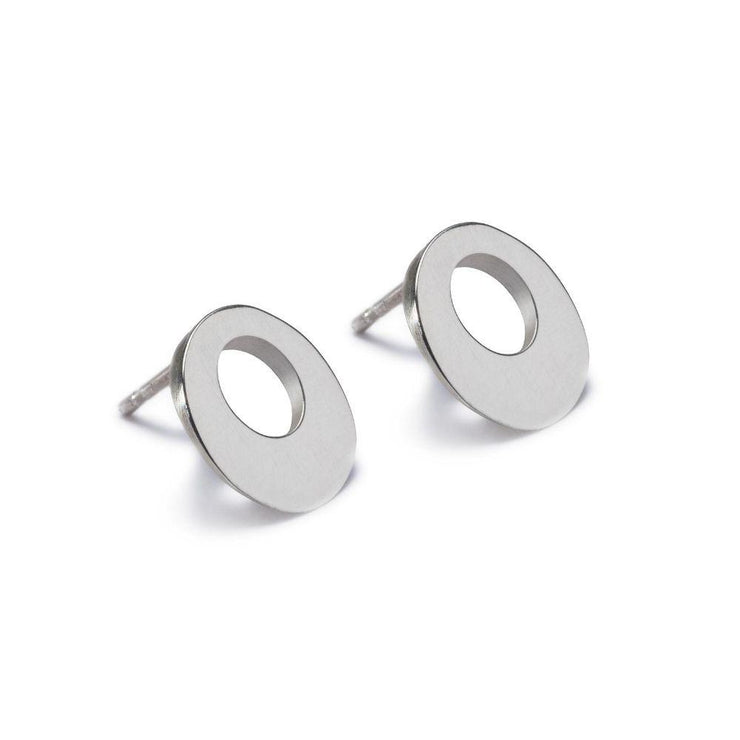 Maureen Lynch Circle of Dreams Silver Stud Earrings DL6