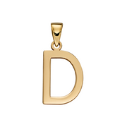 9ct Gold 'D' Initial Pendant