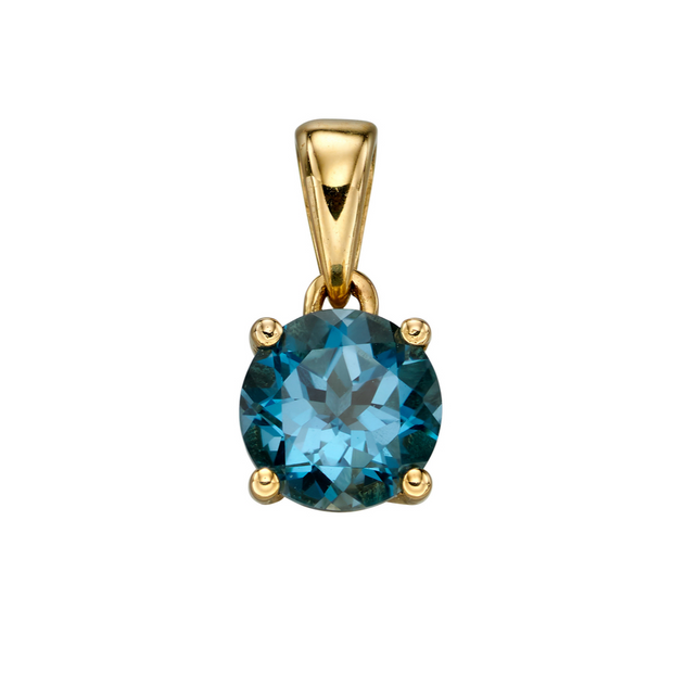 9ct Gold December Birthstone Pendant