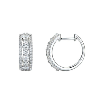 18ct White Gold and 1.44ct Diamond Earrings