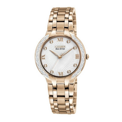 Citizen Eco-Drive Bella Crystal Rose Gold Watch EM0123.50A