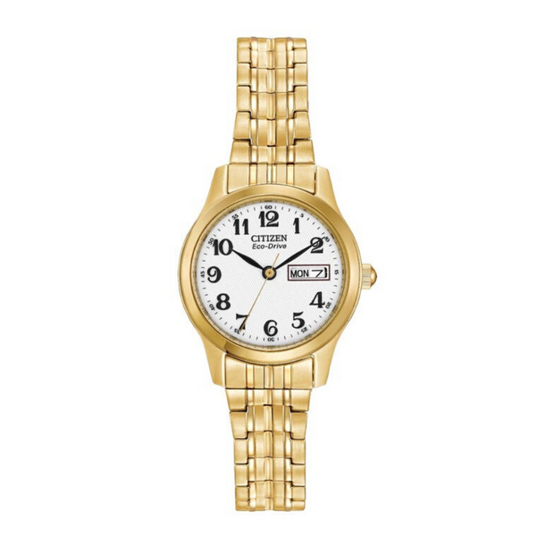 Citizen Eco-Drive Gold Expanding Bracelet Ladies Watch EW3152.95A