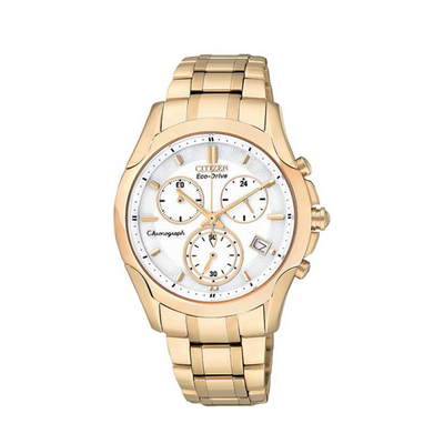 Citizen Eco-Drive Sport Rose Gold Chronograph Ladies Watch FB1153.59A