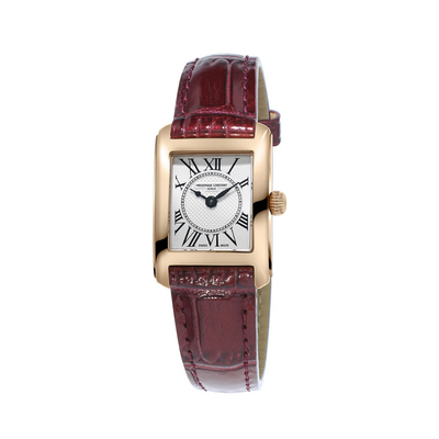 Frederique Constant Classics Carreé Burgundy Ladies Watch FC-200MC14