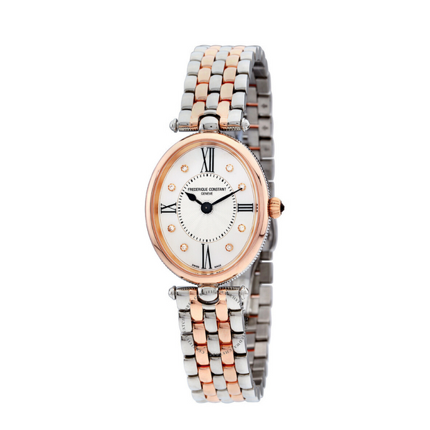 Frederique Constant Classics Art Deco Oval Two-Tone Watch FC-200RMPW2V2B