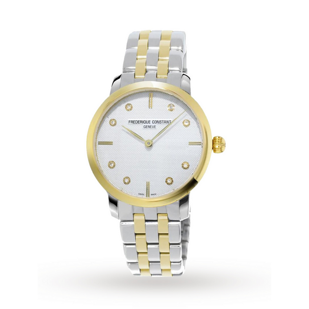 Frederique Constant Slimline Two-Tone Ladies Watch FC-200STDS3B