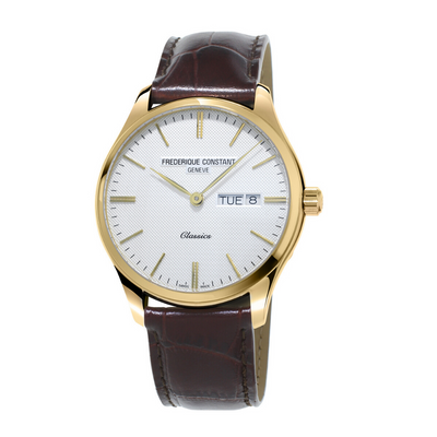Frederique Constant Classics Day Date Leather Mens Watch FC-225ST5B5
