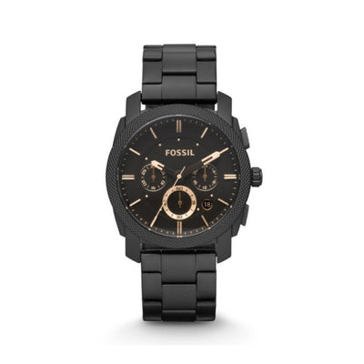 Fossil Machine Black Steel Chrono Watch FS4682IE