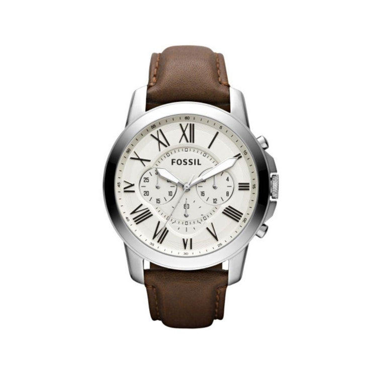 Fossil Grant Chrono Brown Leather Watch FS4735IE