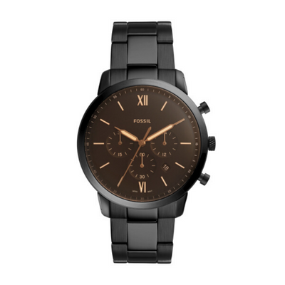 Fossil Neutro Chrono Black Steel Watch FS5525