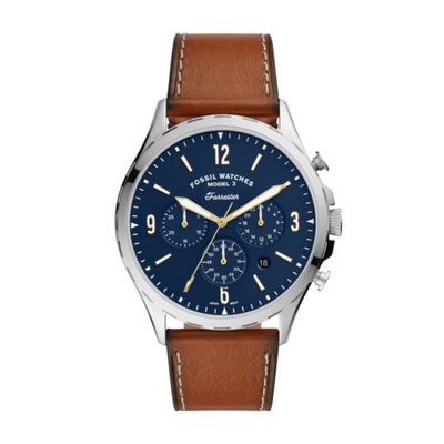 Fossil Forrester Chrono Blue Dial Watch FS5607
