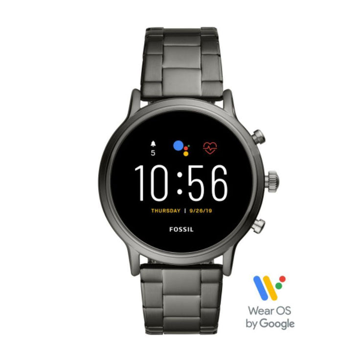 Fossil Carlyle Smoke Steel Smartwatch FTW4024