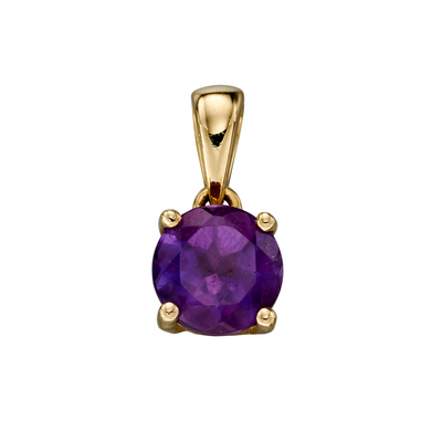 9ct Gold February Birthstone Pendant