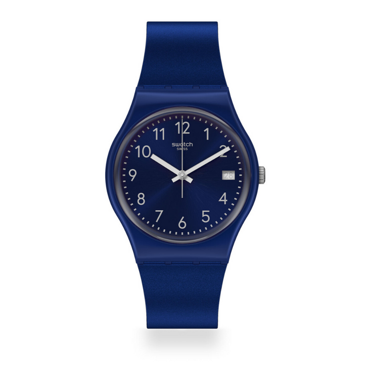 Swatch Silver In Blue Watch GN416