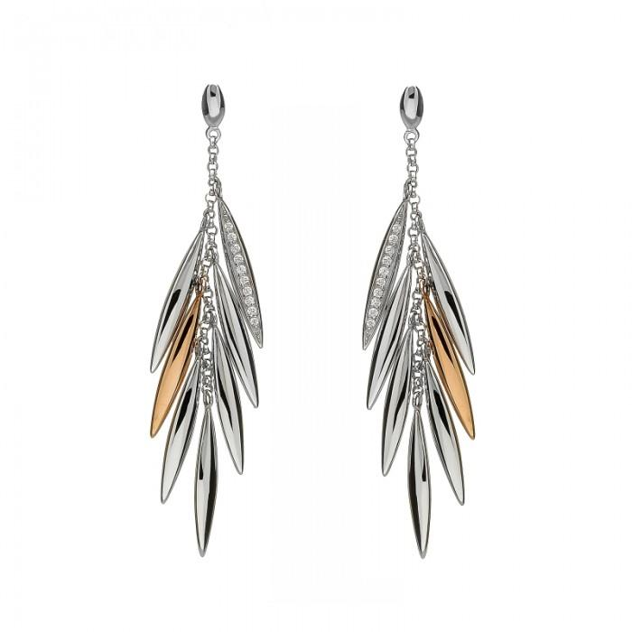 House of Lor Feather Drop Earrings H300031