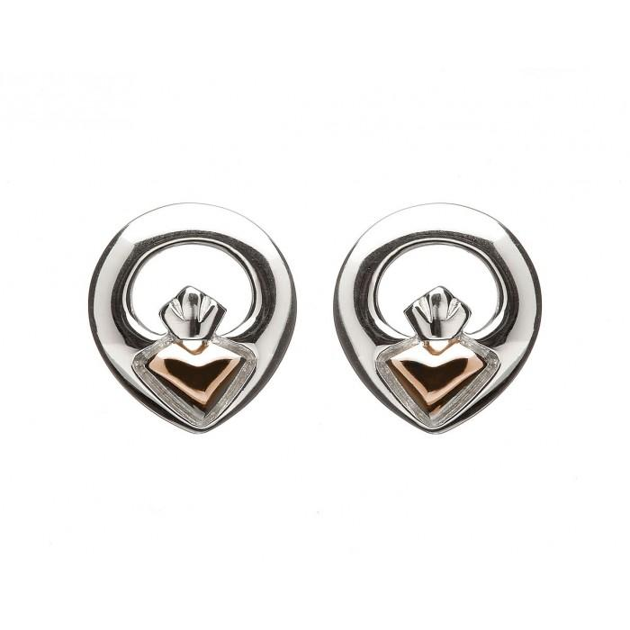 House of Lor Iconic Claddagh Stud Earrings H30014