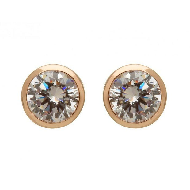 House of Lor Round CZ Stud Earrings H30019