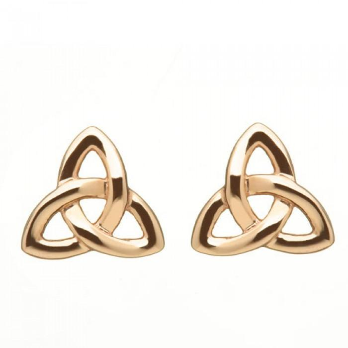 House of Lor Trinity Knot Irish Rose Gold Earrings H30020
