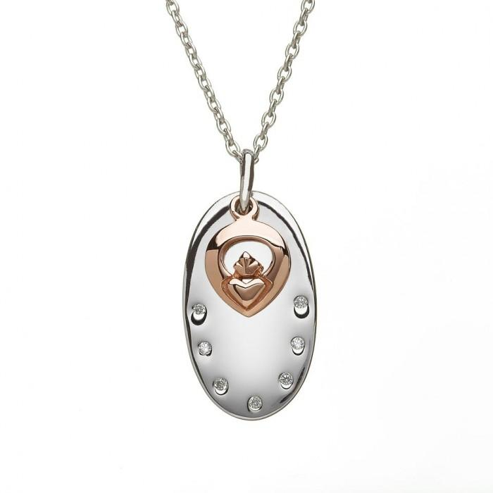 House of Lor Disc Disc and Claddagh Necklace H40001