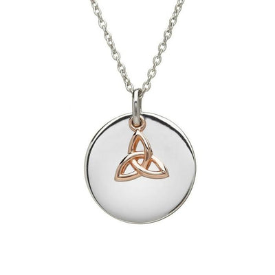 House of Lor Disc and Trinity Knot Necklace H40002