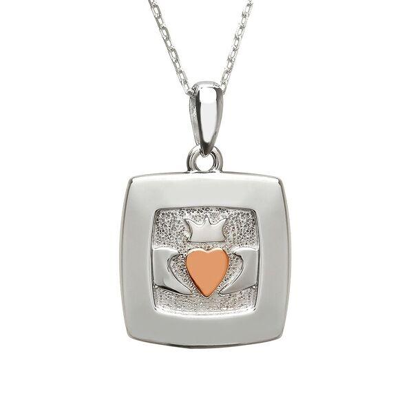 House of Lor Square Claddagh Necklace H40042