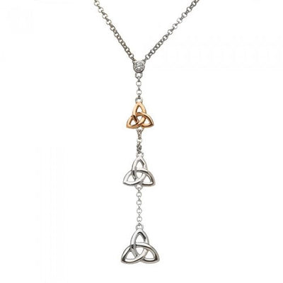 House of Lor Long Trinity Knot Necklace H40046