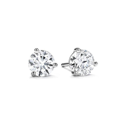 Hearts on Fire Diamond 3 Prong Stud Earrings