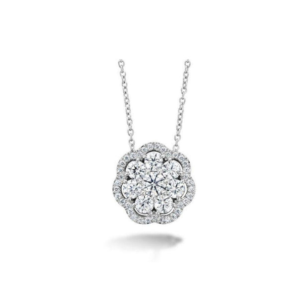 Hearts on Fire Aurora Diamond Cluster Necklace