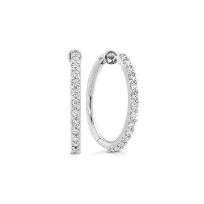 Hearts on Fire Diamond Medium Hoop Earrings