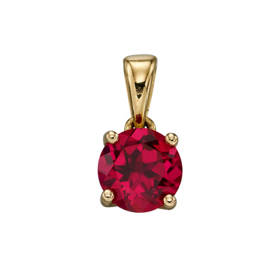 9ct Gold July Birthstone Pendant