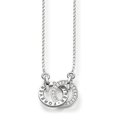 Thomas Sabo Together Forever Silver Necklace KE1488-051-14