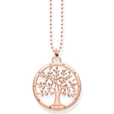 Thomas Sabo Tree of Love rose gold necklace KE1660-415-40