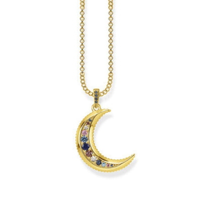 Thomas Sabo Royalty Gold Moon Necklace KE1826-959-7-L45V