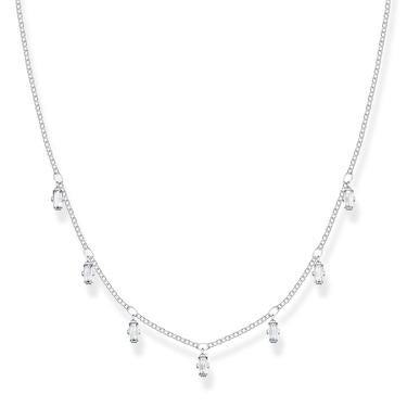 Thomas Sabo CZ drop silver necklace KE1903-051-14