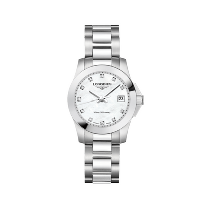 Longines Conquest Steel Mother of Pearl Watch L33764876