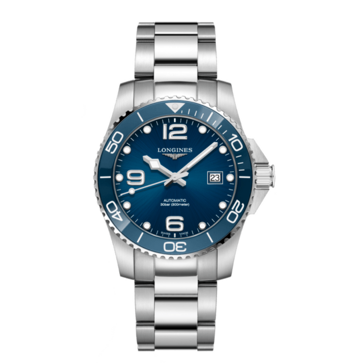 Longines HydroConquest Blue Automatic Mens Watch L37814966