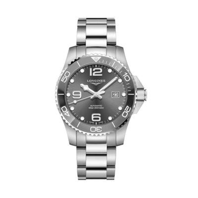 Longines Hydroconquest Grey Ceramic 43mm Watch L37824766
