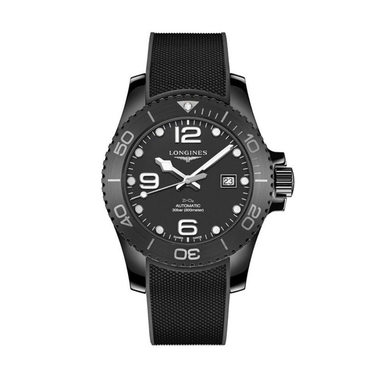 Longines All-Black Ceramic Hyrdoconquest Watch L37844569