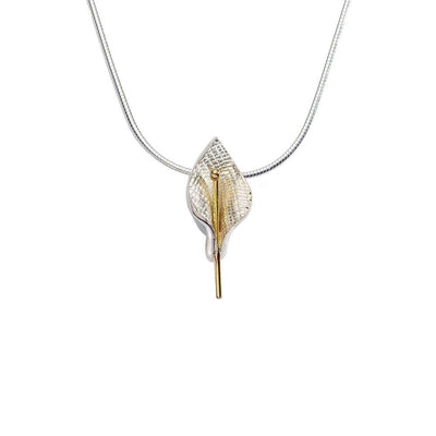 Enibas Lily Small Silver Necklace