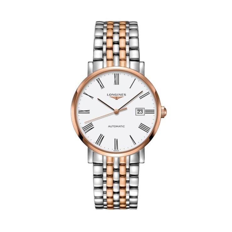Longines Elegant Collection Steel and Rose Gold 39mm Watch L49105117