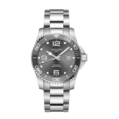 Longines Hydroconquest Grey Ceramic 41mm Watch L37814766