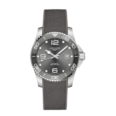 Longines Hydroconquest Grey Ceramic and Rubber Watch L37814769
