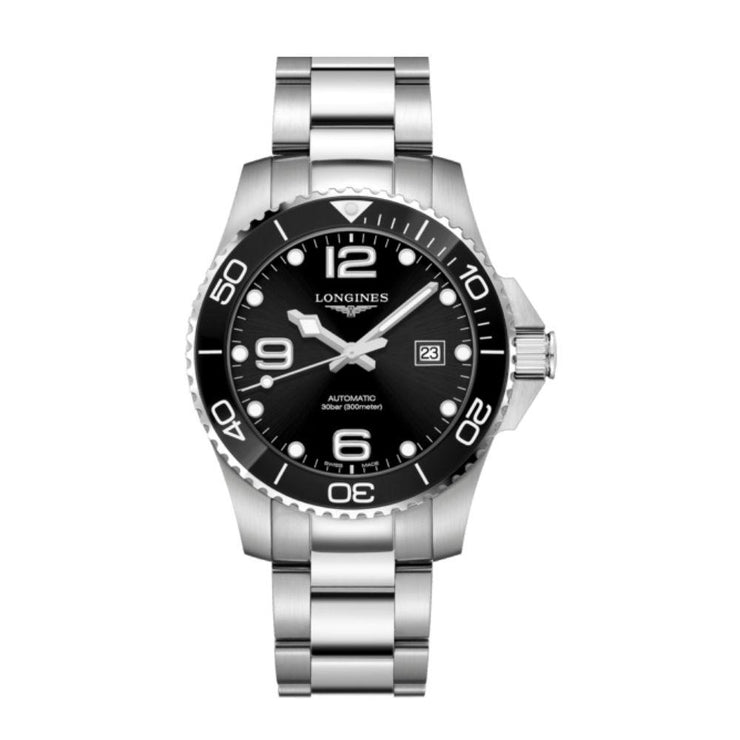Longines Hydroconquest Black Ceramic 43mm Watch L37824566