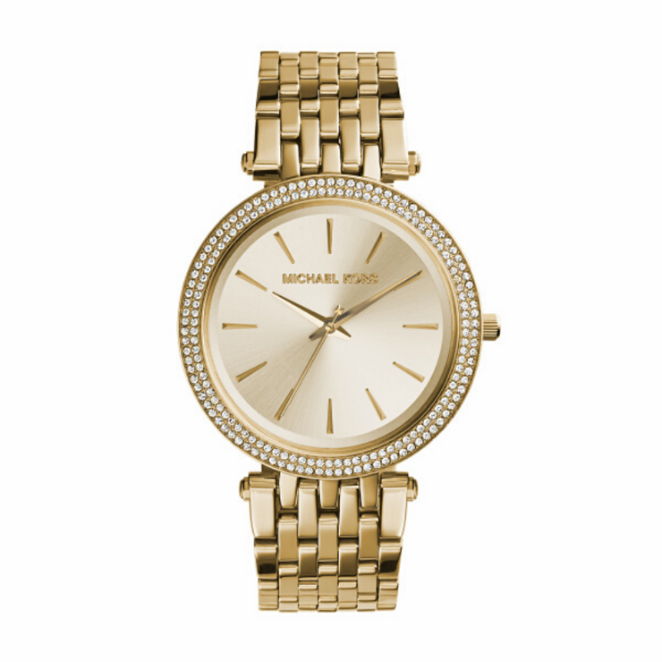 Michael Kors Darci Gold Crystal Watch MK3191