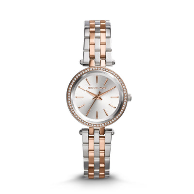 Michael Kors Darci Steel and Rose Gold Watch MK3298
