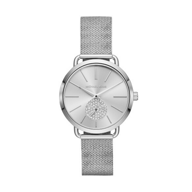 Michael Kors Portia Steel Mesh Watch MK3843