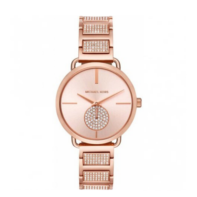 Michael Kors Portia Rose Gold Crystal Watch MK3853