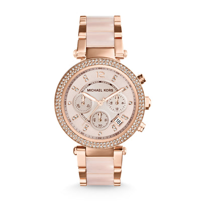 Michael Kors Parker Rose and Blush Chrono Watch MK5896