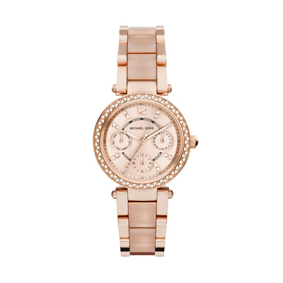 Michael Kors Parker Blush Chrono Watch MK6110
