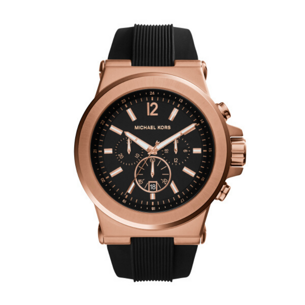 Michael Kors Dylan Black Rose Gold Mens Watch MK8184